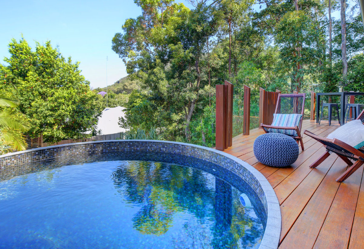 Perth Concrete Pool in timber deck