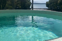 Luna tiled with Cuban seat trim 3.48m circular pool