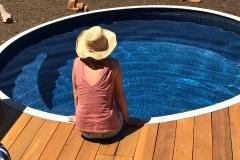 3.48m circular plunge pool