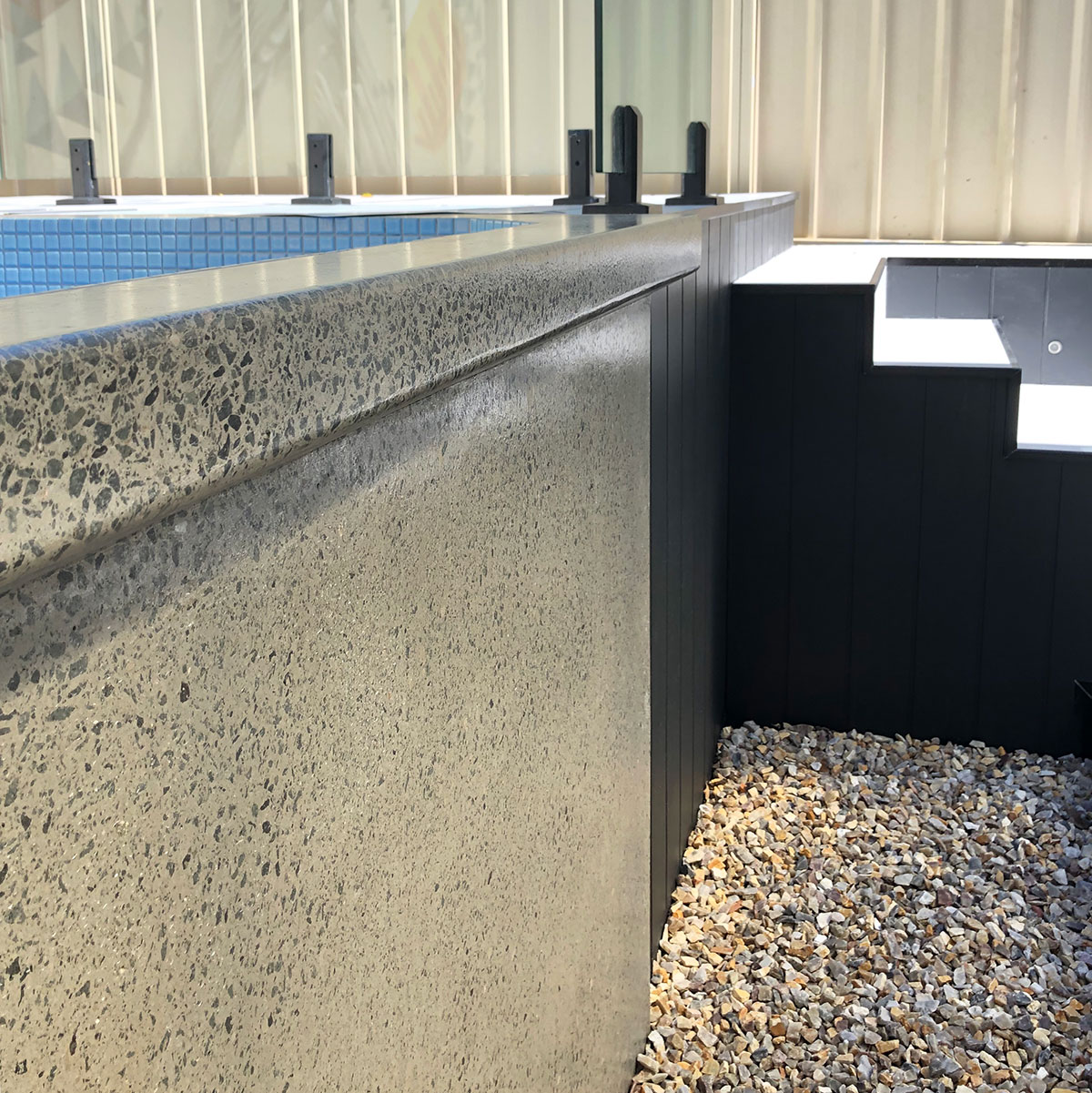 lunge pool above ground pool stairs